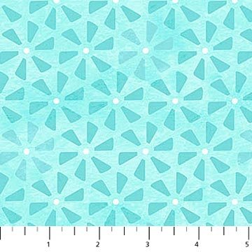 April Showers Pinwheels Turquoise<br/>Northcott 22595-61