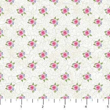 Spring Roses Cream<br/>Northcott 22766-11