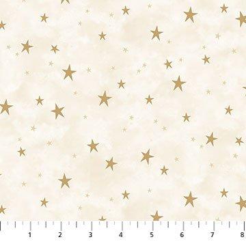 Stars Cream/Gold<br/>Northcott 23490-10