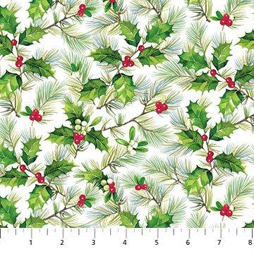 Holly & Pine Toss<br/>Northcott 24070-10