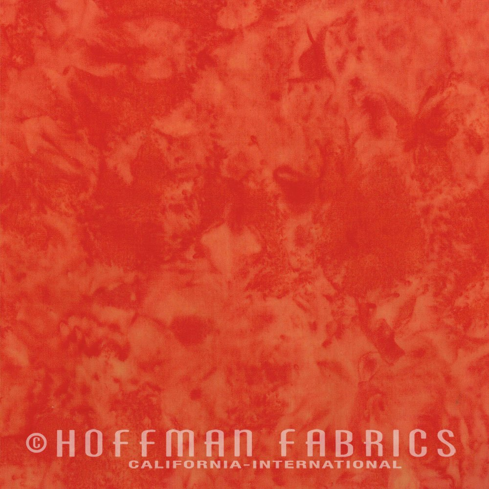 Singapore - Flame Orange<br/>Hoffman Fabrics 1895-240
