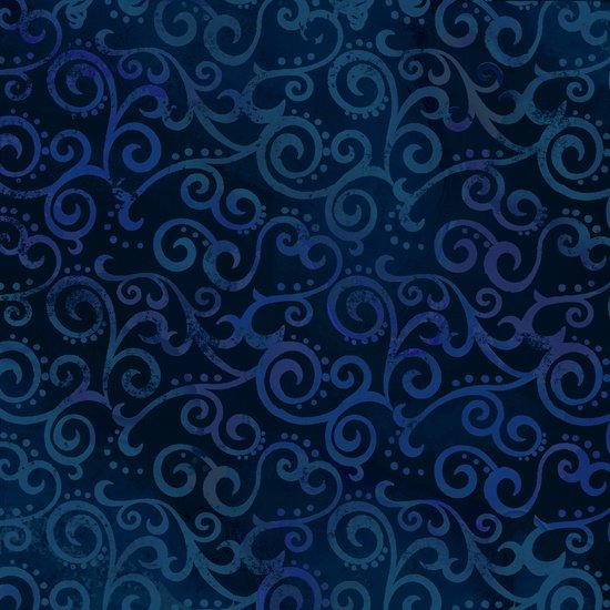 Ombre Scrolls Navy 24174N FQ<br/>Quilting Treasures
