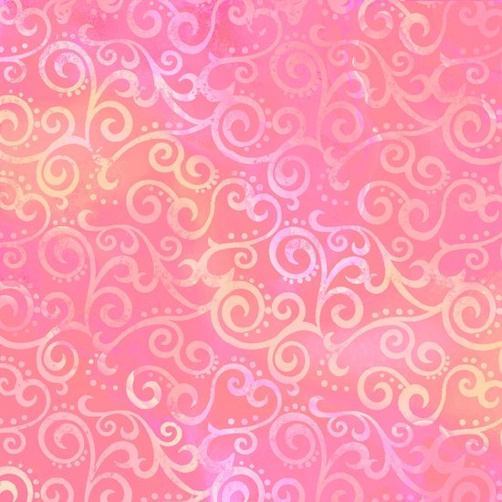 Ombre Scrolls Pink<br/>Quilting Treasures 24174-P