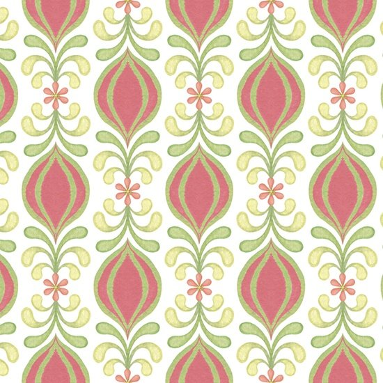Geo Bud Stripe - Pink<br/>Quilting Treasures 24445-P