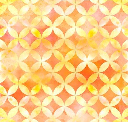 Circle Geo - Orange<br/>Quilting Treasures 24677-O