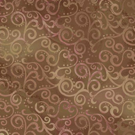 108in Ombre Scrolls - Sable<br/>Quilting Treasures 24775-A