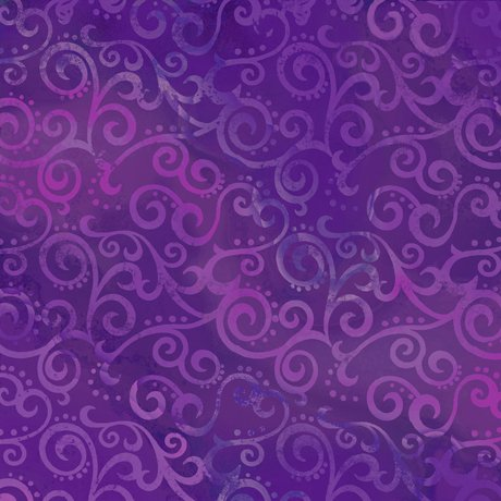 108in Ombre Scrolls - Grape<br/>Quilting Treasures 24775-V