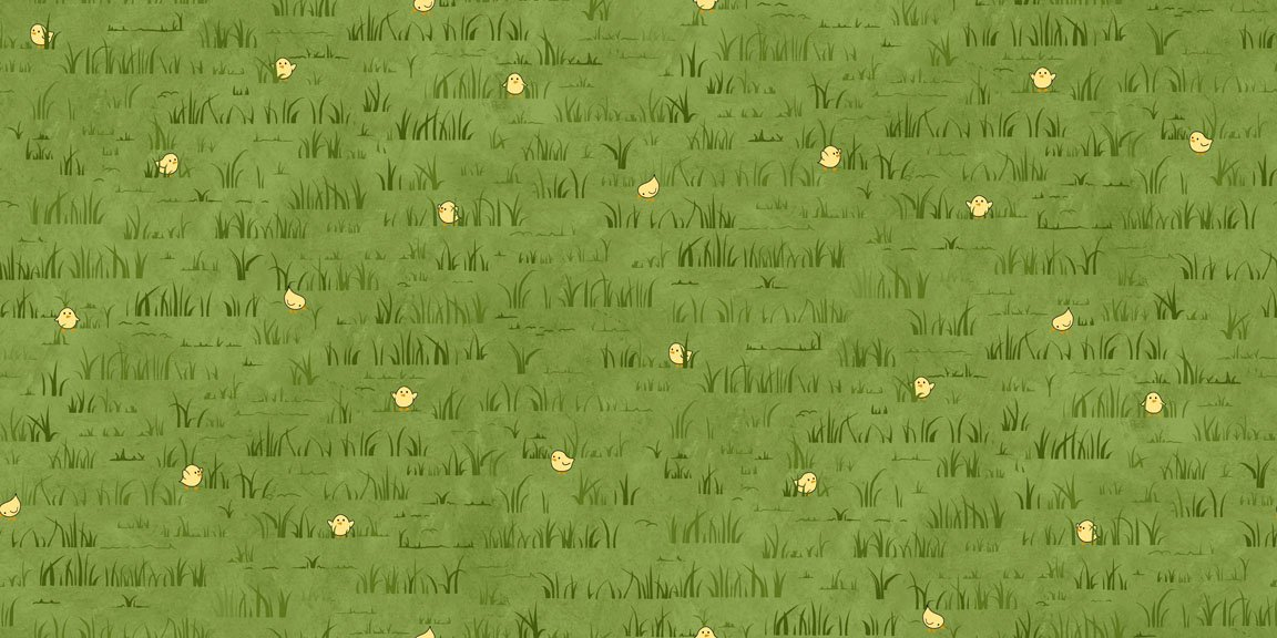 Peeps in Grass - Dk Green 25753H<br/>Quilting Treasures