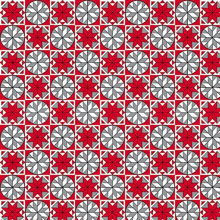 Snowflake Tiles - Red<br/>Quilting Treasures 25900-RK