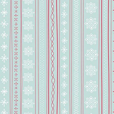 Snowflake Stripe - Wintergreen<br/>Ink & Arrow 25920-Q