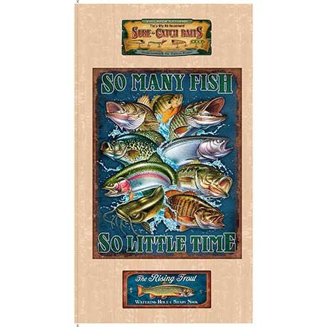 So Many Fish Panel<br/>Quilting Treasures 25922-E