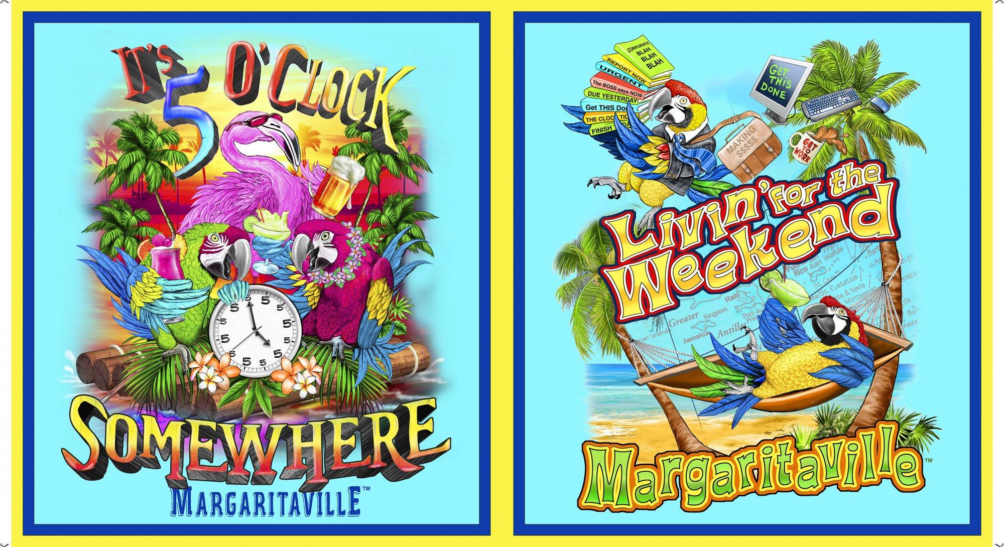 Margaritaville Panel<br/>Quilting Treasures 26157-X