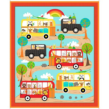 On The Road Panel<br/>Quilting Treasures 26192-X