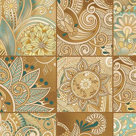 Floral Patch Dijon<br/>QT Fabrics 26401-S