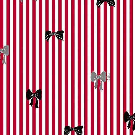 Bow Stripe - Red FQ<br/>Ink & Arrow 27003-R