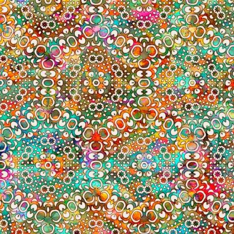 Rhythm Kaleidoscope Tan<br/>QT Fabrics 27100-E