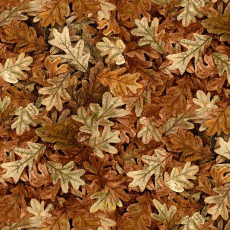 Turkey Hill Leaves Brown<br/>QT Fabrics 27170-A