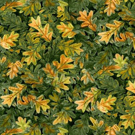 Turkey Hill Leaves Green<br/>QT Fabrics 27170-G