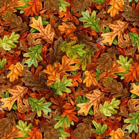 Turkey Hill Leaves Rust<br/>QT Fabrics 27170-T
