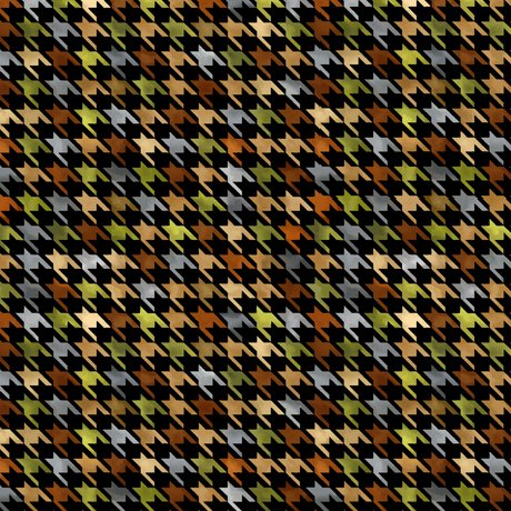 Turkey Hill Houndstooth Black<br/>QT Fabrics 27171-J