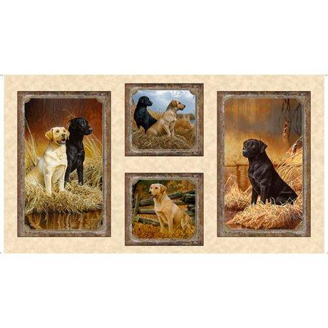 Labrador Picture Patches Cream<br/>QT Fabrics 27285-E