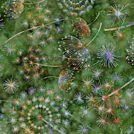Dandelions Pine<br/>QT Fabrics 27410-G