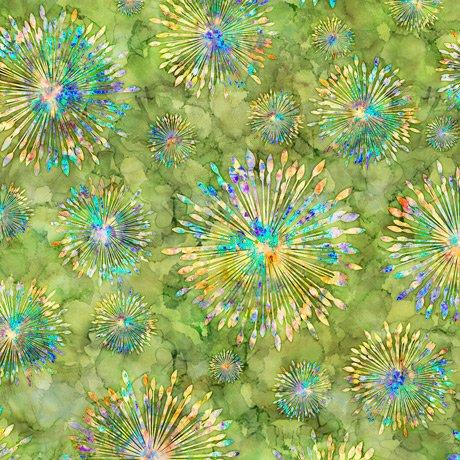 Sunburst Chartreuse<br/>QT Fabrics 27412-H