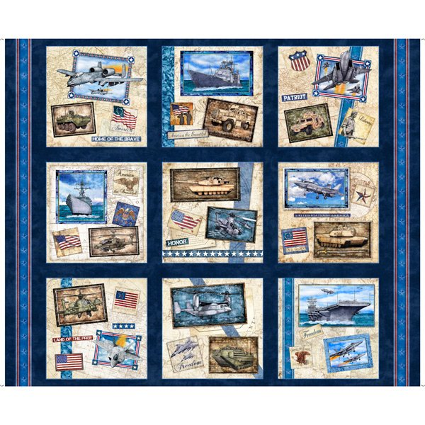 Military Patches Navy<br/>QT Fabrics 27614-N
