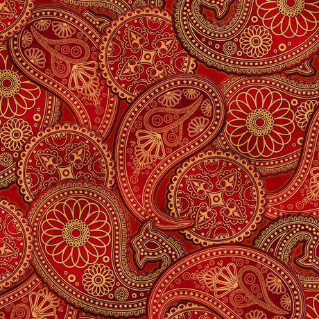 Lil' Bit Country Paisley Rust<br/>QT Fabrics 27745-T