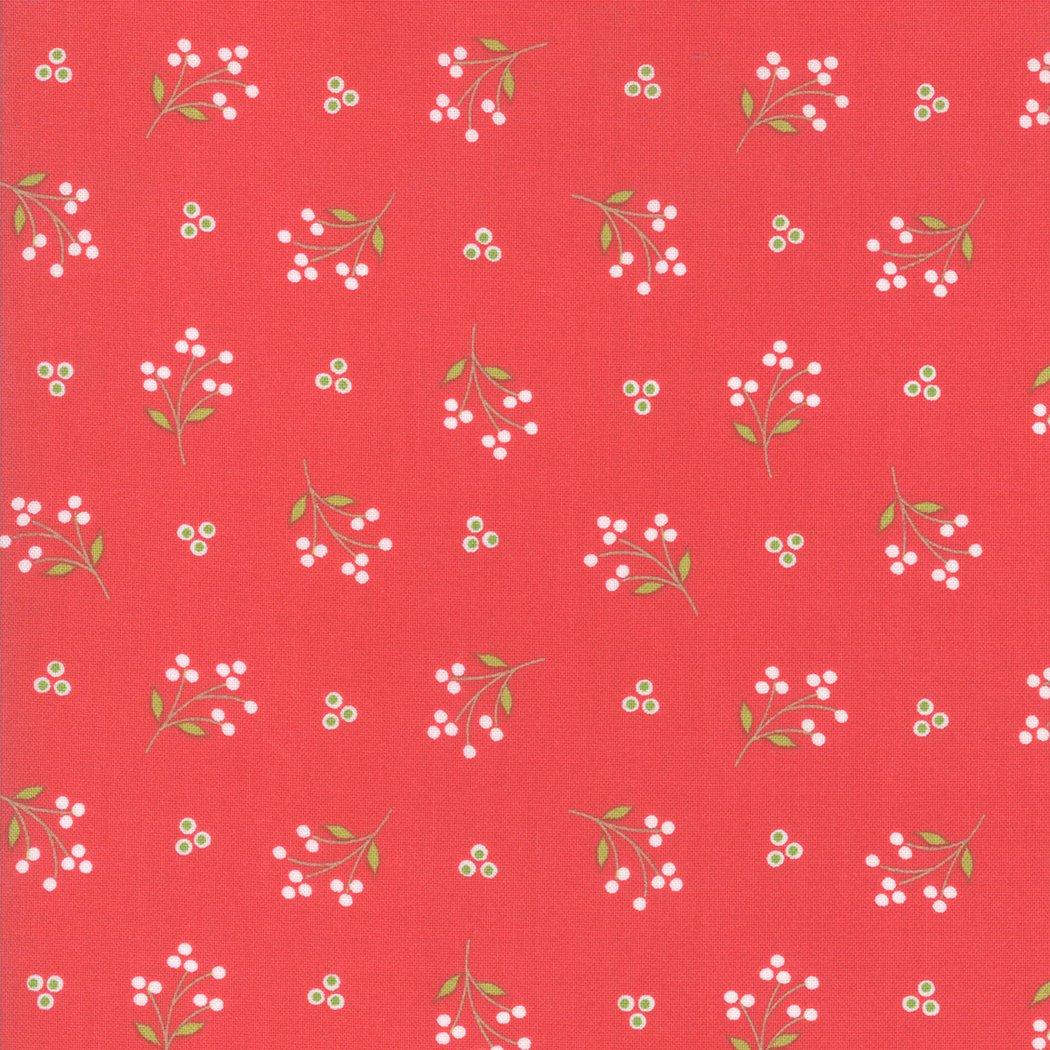 Holliberry Sprigs Scarlet<br/>Moda 29093-12