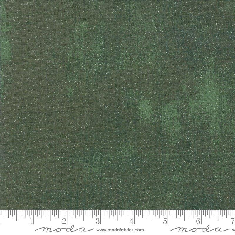 Grunge Glitter Winter Spruce FQ<br/>Moda 30150-429GL