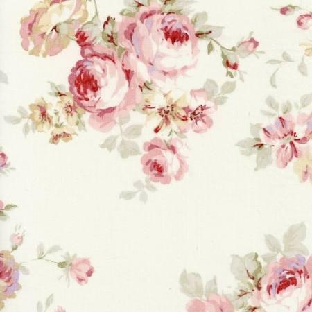 Durham Quilt Lg Floral Creme<br/>Lecien 31926-10