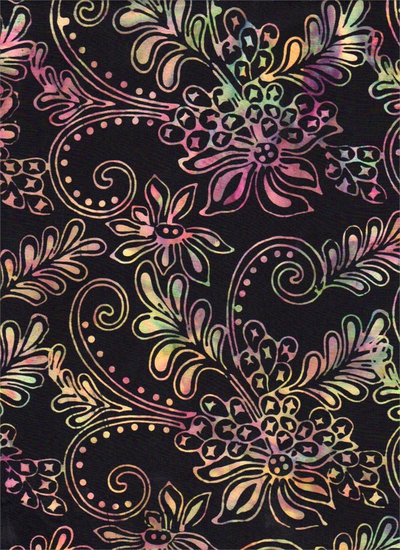 Tropical Sorbet 3603 Black<br/>Batik Textiles