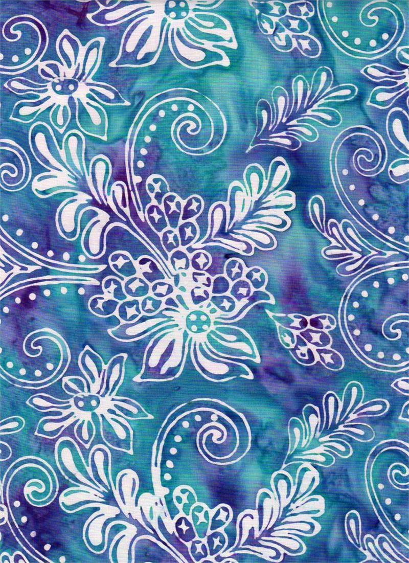 Tropical Sorbet 3609 Aqua<br/>Batik Textiles