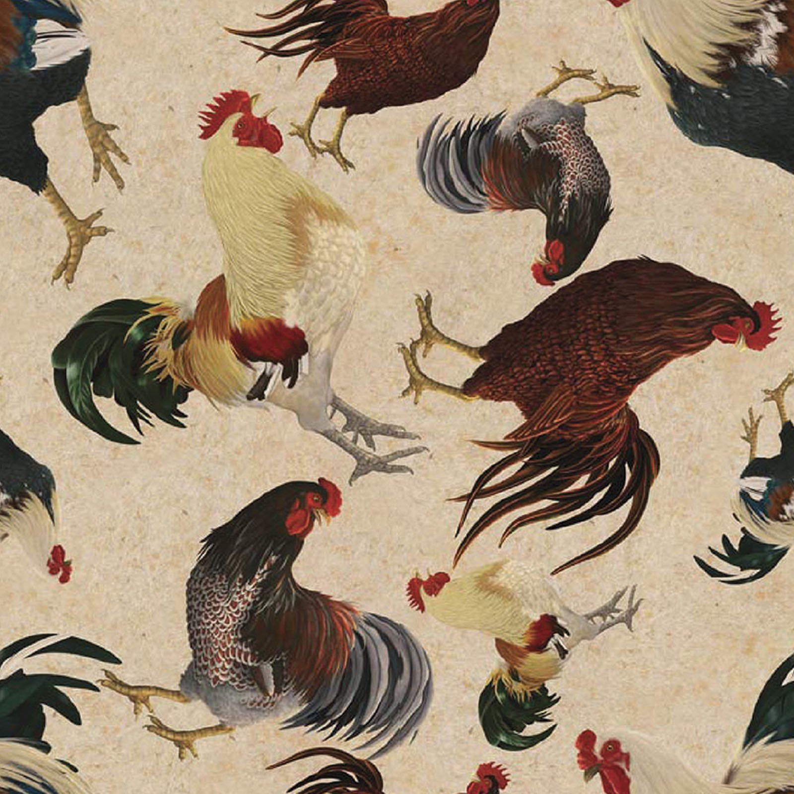 Rustic Roosters<br/>3Wishes 13854-CREAM