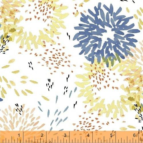 Aria Floral Burst - White Lawn<br/>Windham 42023-2