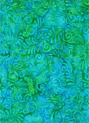 Acanthus - Aqua 4224<br/>Batik Textiles