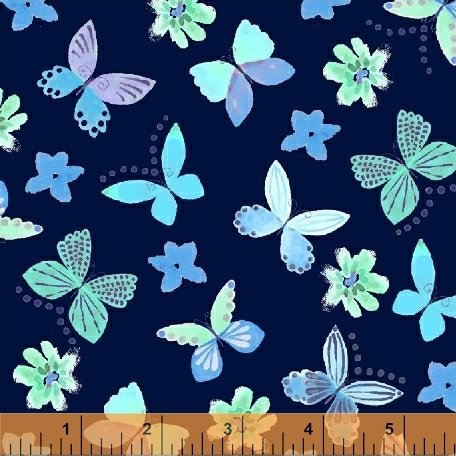 Painted Wings - Blue 43161-1<br/>Windham Fabrics
