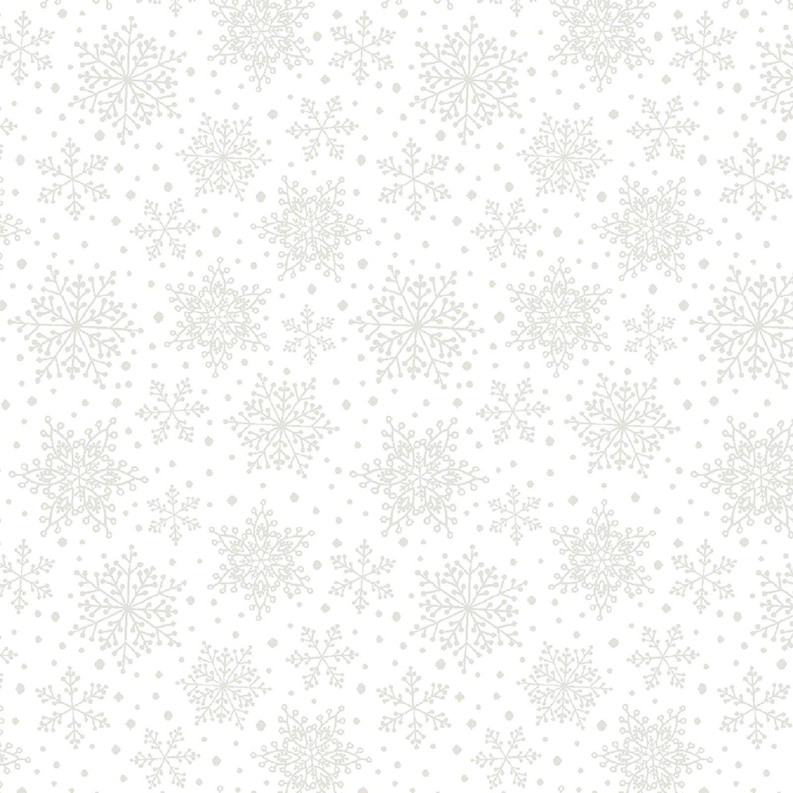 Snowflakes White<br/>Contempo Studio 7577-09