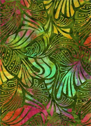 Serendipity Stylized Leaves<br/>Batik Textiles 4549