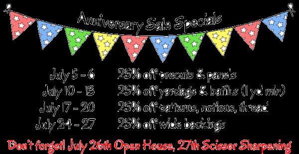 Anniversary Sale Specials