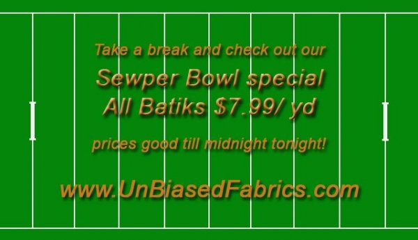 Sewper Bowl Sale