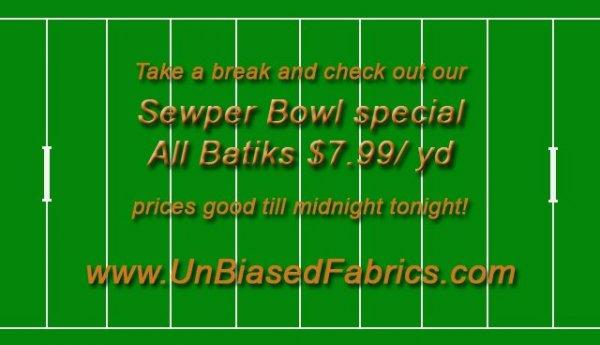 Sewper Bowl Sale