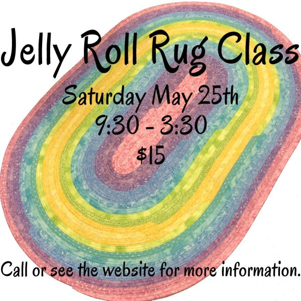 Jelly Roll Rug Class