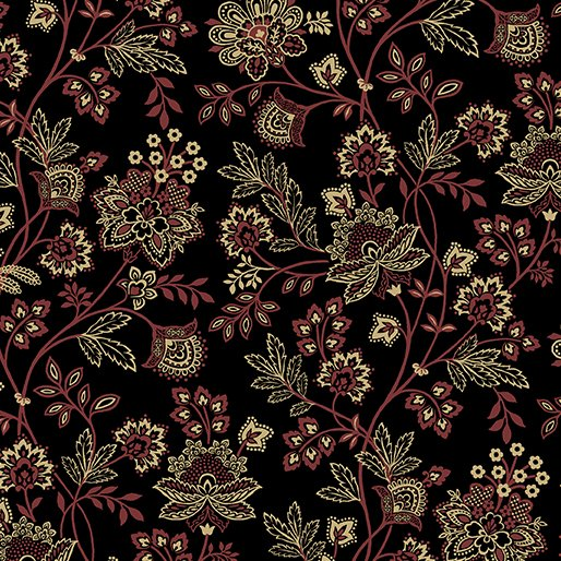 Bandana Floral Black<br/>Benartex 6128-12