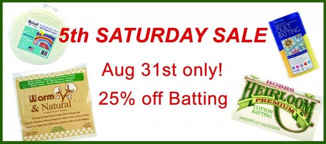 5th Saturday Sale