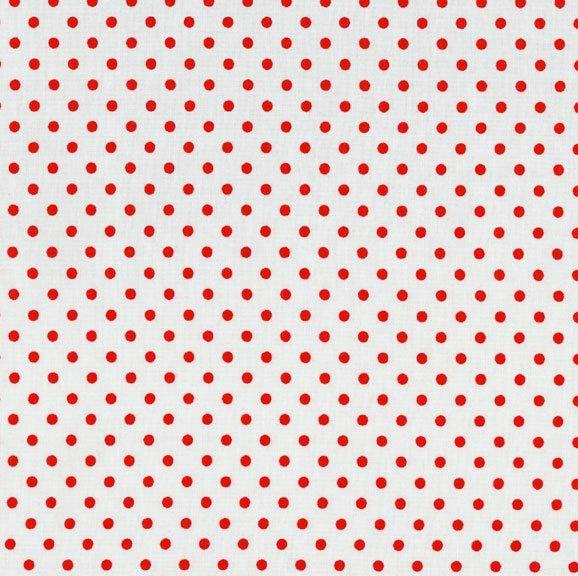 Polka Dots - White/ Red<br/>RJR Fabrics 8174-4