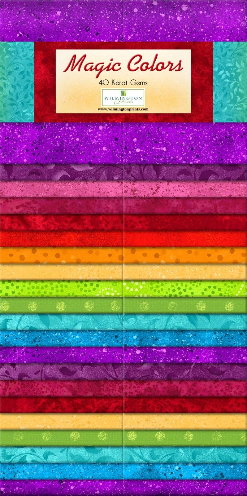 Strips - Magic Colors<br/>Wilmington Prints 842-14-842
