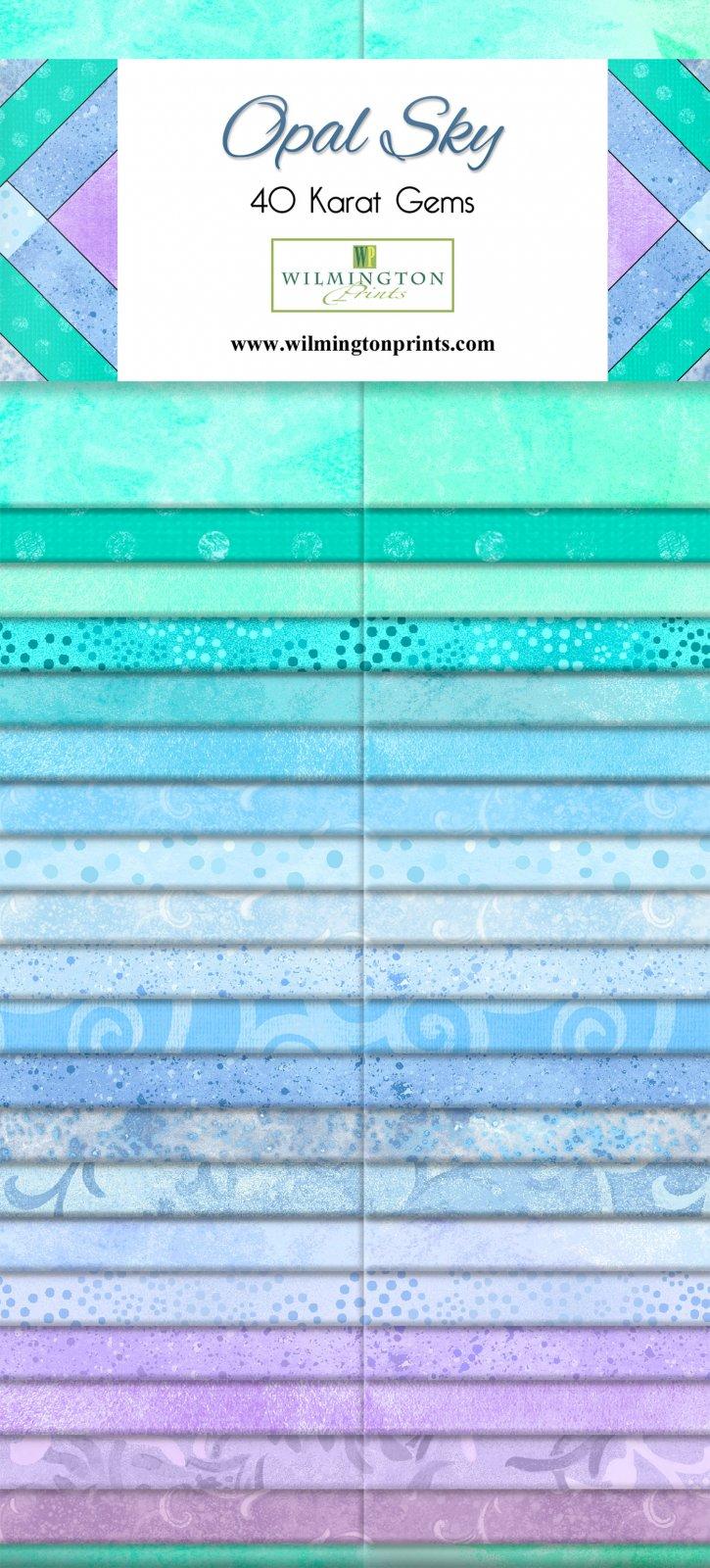 Strips - Opal Sky<br/>Wilmington Prints 842-29-842