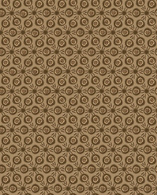 Scroll Dots - Brown<br/>Blank Quilting 9207-35